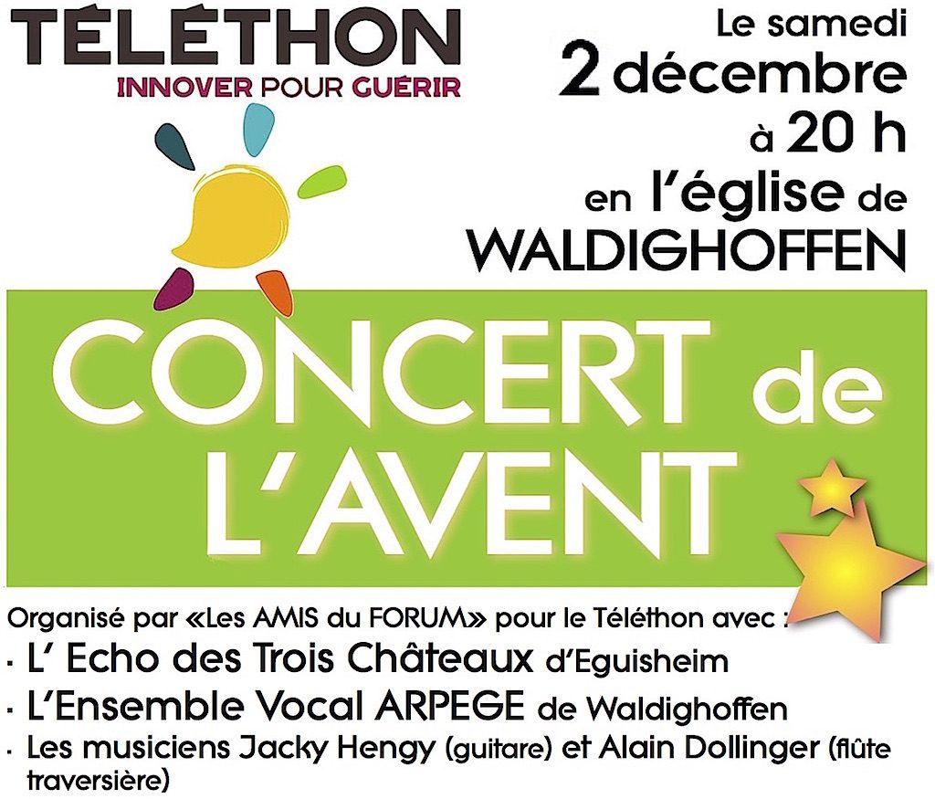 Visuel pour le concert Téléthon 2017 des Amis du Forum à Waldighoffen