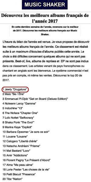 meilleurs albums français 2017