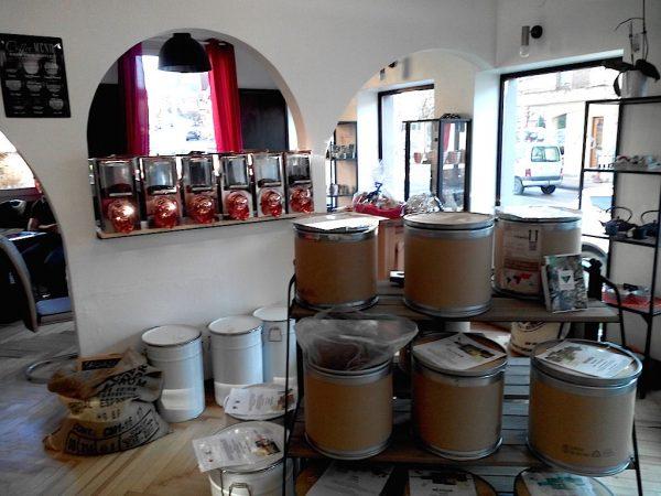 réserves de cafés naturels et torréfiés