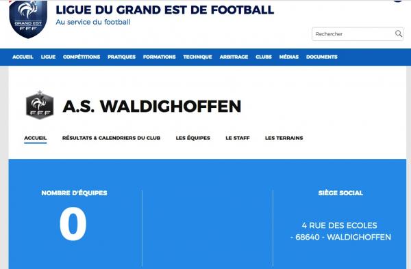 Site de la Ligue du Grand Est de Football