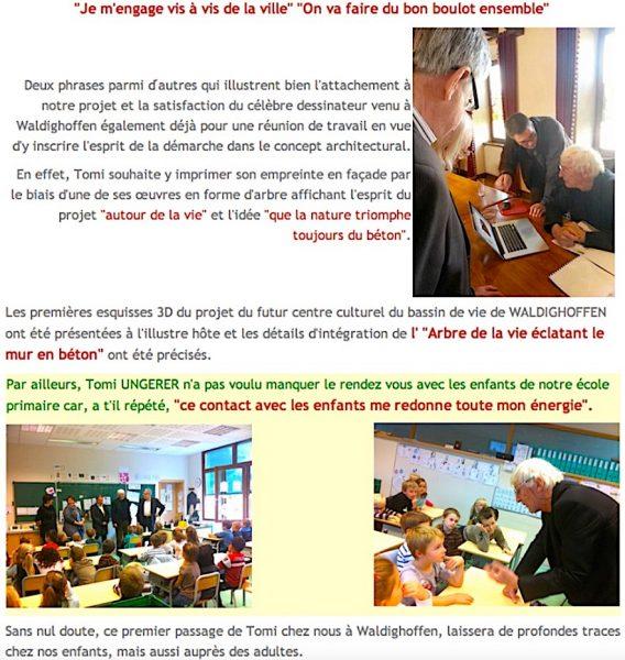 Visite de Tomi Ungerer à Waldighoffen en octobre 2013-2