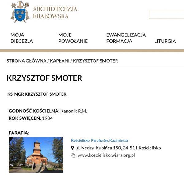 Christophe Smoter nommé dans sa paroisse de Koscielisco