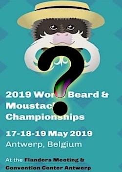 Affiche du championnat du monde d'Anvers 2019-Fond vert avec Point d'interrogation