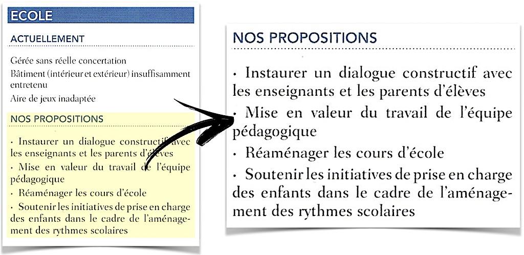 Propositions pour l'école en 2014 par Schielin