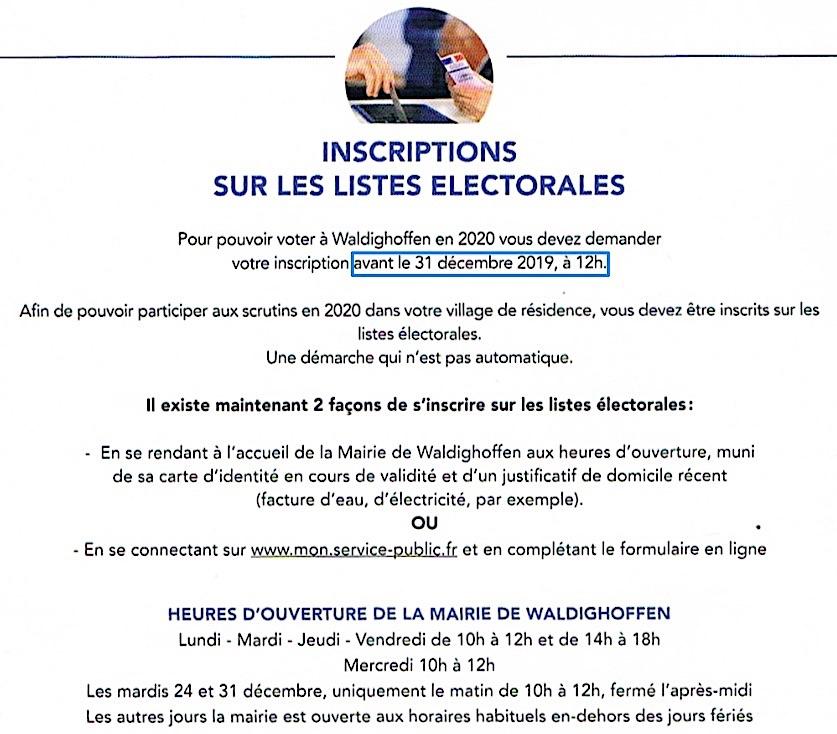 Info bulletin municipal Waldighoffen